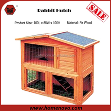 Manufacturer Best Quality Waterproof 100L x 55W x 100Hcm Outdoor Wooden Rabbit Hutch