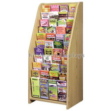 New 11-Layer Amercian Book Shop Display Advertising Wood Free Standing Book Retail Store Furniture
