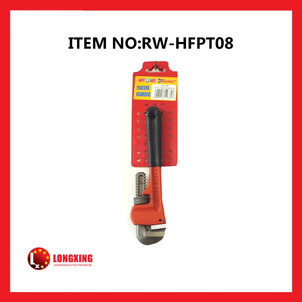 Factory Supply best selling single color dipped handle Heavy Pipe Clamp Heavy Duty Pipe Wrench