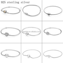 Europe and the United States hot style fashion bracelet 925 sterling silver snake skeleton bracelet charm bracelet is suitable f