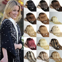 Wholesale high quality multi colors full head 7 piece set seamless clip in human hair extension for white woman