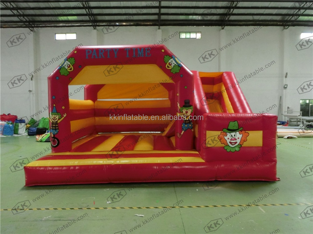 Cartoon Character Holiday funny clown Inflatable bouncer Slide, combo Slide for clerance