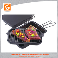 2016 Hot selling carbon steel stove top smoker BBQ tool