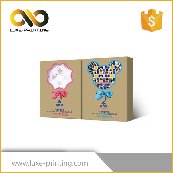 2016 recyclable full color matt lamination retail hanging paper box customized handmade packaging printed box