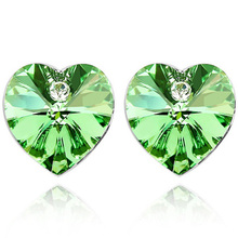 Heart Design Fashion Party Jewelry Crystal Stud Earring