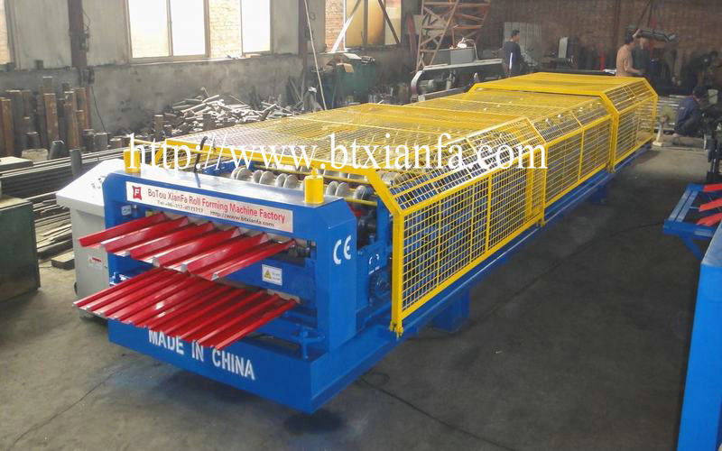 Kosovo Special Galvanized Aluminum Color Steel Double Roof Panel Roll Forming Machine