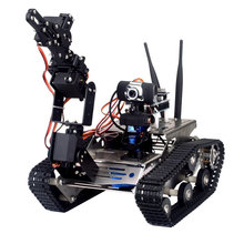 Wireless Wifi Manipulator Robot Car with Arm for Arduino Vehicle Robotics Camera Educational Kit by iOS Android PC Controlled