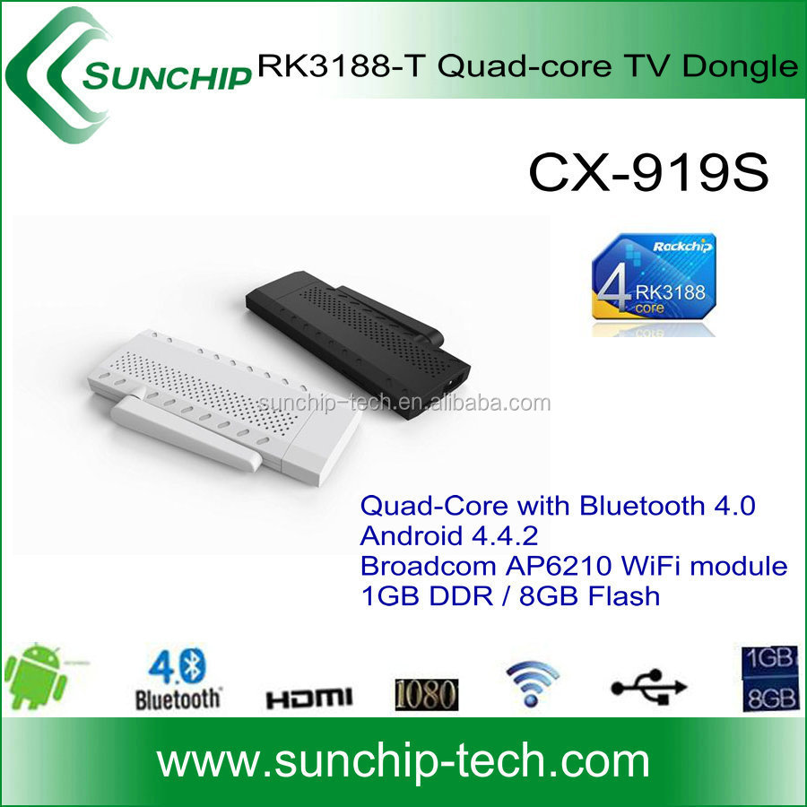 rk3188-T AP6210 wifi tv dongle, quad core rk3188 android 4.4 tv stick, rk3188 quad core android 4.4tv stick