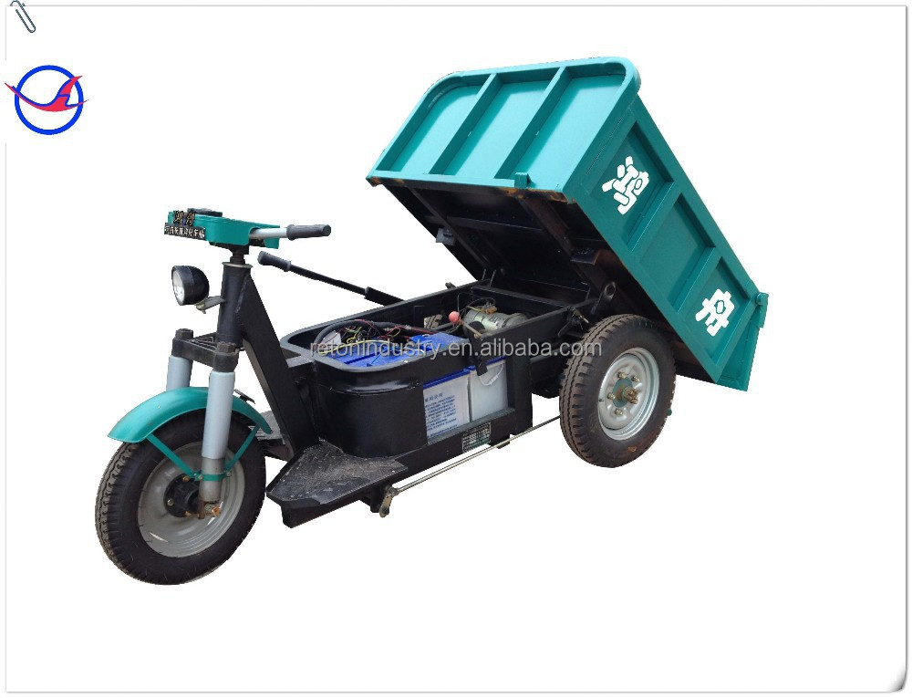 1500W electric cargo auto rickshaw for brick transportation