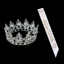 Fashion Accessories Bride To Be Crown Sliver Colored Rhinestone Tiaras