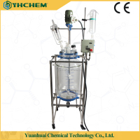 High quality chemical lab jacketed glass reactor (Customizable volume from 0.5L-200L)