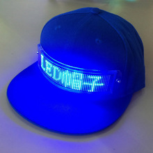USB Charging App Control Scrolling Light Display Hat, Message Led <strong>Cap</strong>, Led Message Hat