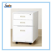 Factory manufacture 3-drawer office wood file cabinet/wood pedestal under desk