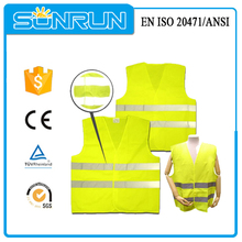 Reflective work hi vis safety vest with id pocket