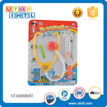 Hot selling doctor play set plastic toy stethoscope with accessories