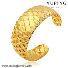 XL5027 xuping jewelry imitation jewellery, gold plated cuff bangle, Dragon scale bridal gold bangle