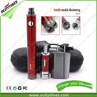 Ocitytimes most popular selling in USA 1600 mah battery evod twist ii & vision spinner & evod twist ii vaporizer evod
