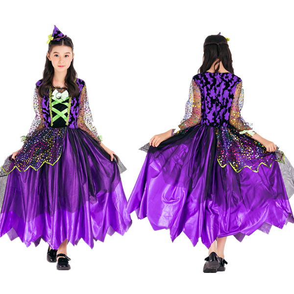 Kids Halloween Cosplay Costume Party Witch Costume