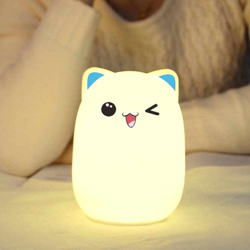 Lovelty 2017 Silicone Cute Bear Color Changing LED night Light with Rechargeable for Baby