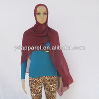 dark red georgettelight women ladies girl scarf shawls hijabs