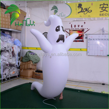 PVC Airtight Horrible Halloween Inflatable Ghost Model For Decorations