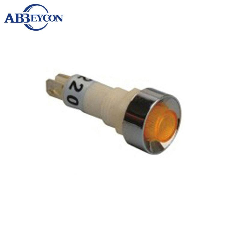 ZS58 yellow button Diameter <strong>M10</strong> signal light indicator lamp pilot light indicator light