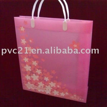 Ladies Pink PP Shopping Tote Bag For Promotional Gift