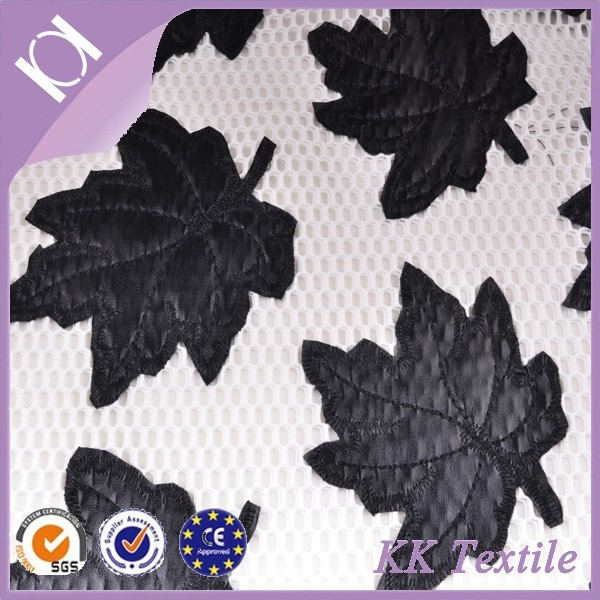 China wholesale mable leaf patterns hand designs embroidery for dress