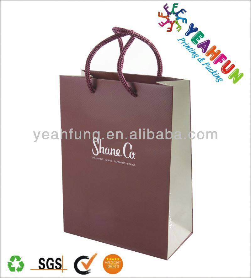 Elegant paper bag for shopping and gift