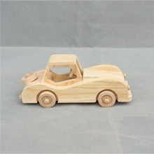 Handmade Baby Christmas Gift Wooden Model Car Toy