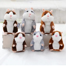 Cute talking hamster stuffed animals children toys repeat voice sound recordings of education plush toys to children
