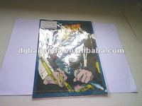 clear PVC/PET/PP plastic folder with cartoon pictures for pupil