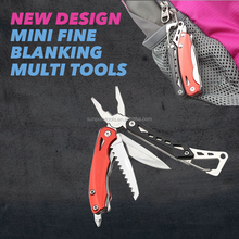 Mini fine blanking carabiner multi tool Best promotional pocket multi tool
