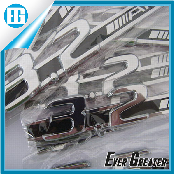 customized 3M tape chrome japanese stickers car badge Adhesive 3D Car Body Emblem mirrored stickers