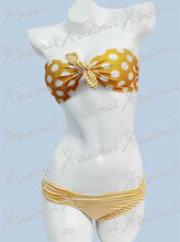 Sexy Bowknot Push Up Swimwear 2013 New White And Brown