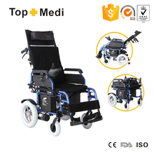 TOPMEDI Aluminum Reclining PG Controller Foldable Power Electric wheel chair