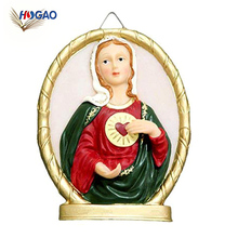 OEM wholesale retro art handmade hanging resin religious crafts for praying home Decor housewarming gift meditation