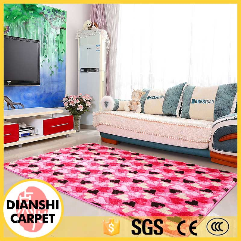 Modern Rectangle Pastoralism Long Pile Shaggy Polyester Carpet