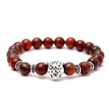 2018 Man Mala Beads Stretch Bracelet Natural Stone 8mm 10mm Agate Bracelet bracelet men