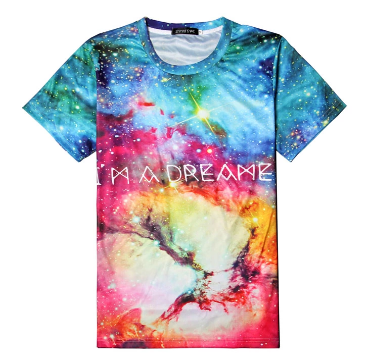 3d sublimation polyester fashion t-shirt