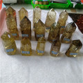 Natural citrine quartz crystal healing wands points