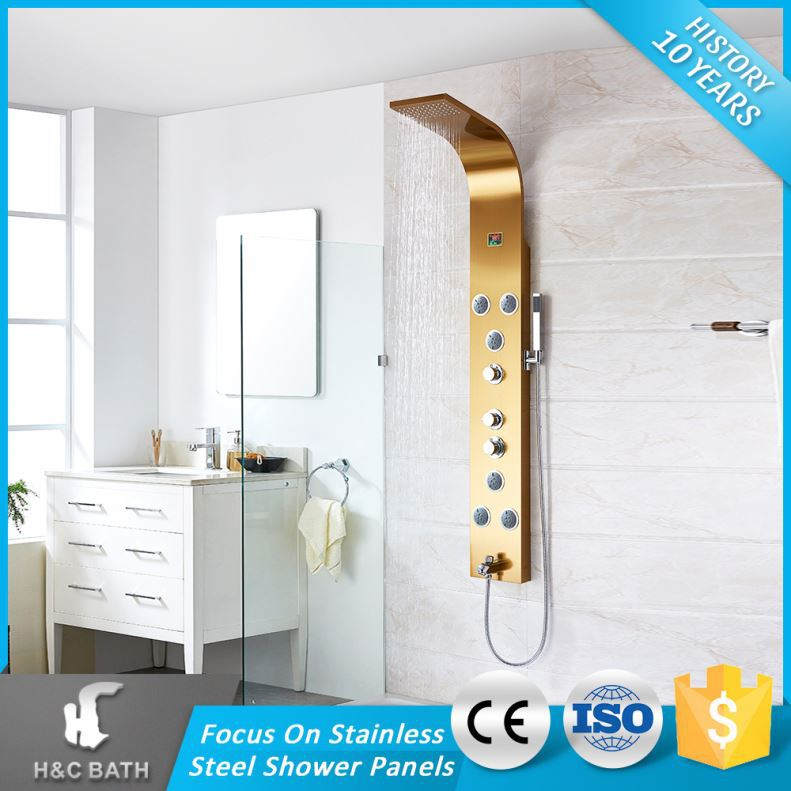 Multi-Function Classical Smart Space Saving Shower Column With Middle Rainfall
