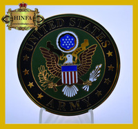 Souvenir United States Army Hard Enamel Gold Coin