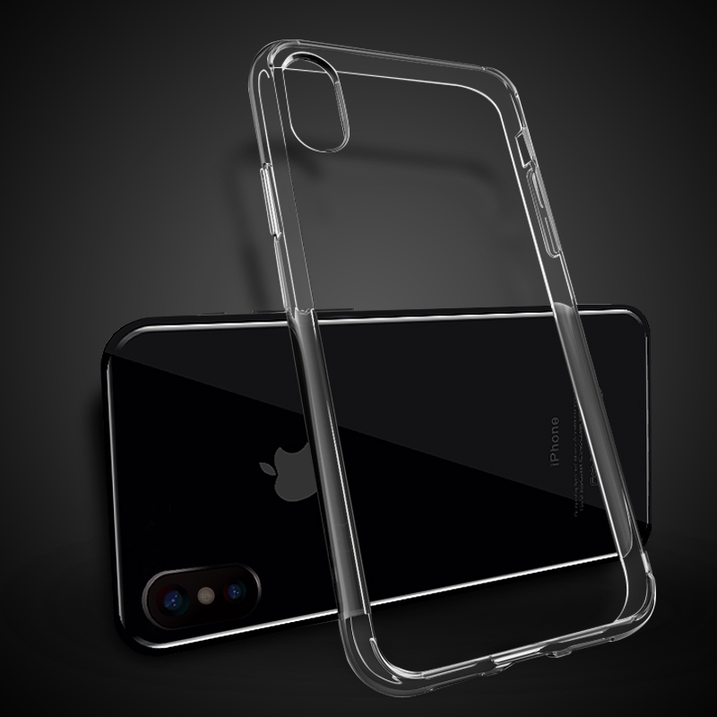 1.5mm gel soft transparent plastic TPU case for <strong>iphone</strong> x for <strong>iphone</strong> x case clear cover