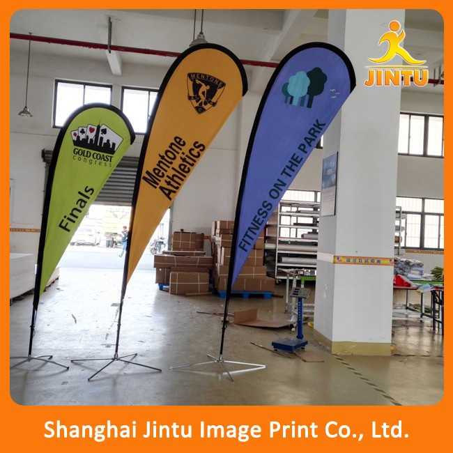 Custom printing cheap teardrop banner flag
