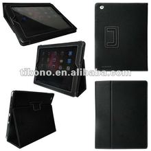 PU leather folio stand case cover for the new ipad 3rd generation