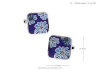 Flower Fashionable alloy high quality cufflinks for suit