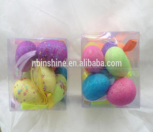 Good quality decorative glitter foam easter eggs , easter egg
