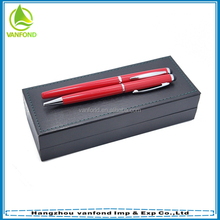 Custom logo personalized promotional stationery 2015 metal pen set