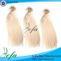 Factory one donor full cuticle grade 7A cheap clip in hair extension